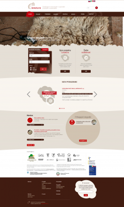 The new website of the project LANATURA